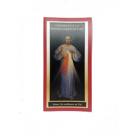 Carte chapelet à la Miséricorde Divine