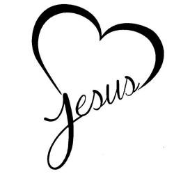 """Autocollant """"J'aime Jésus !"""""""