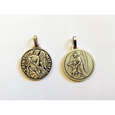 Grosse médaille saint Michel et Ange gardien