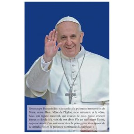 Carte-prière du pape François