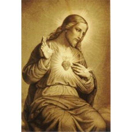 TAPISSERIE du Sacré-Coeur de Jésus (gravure)