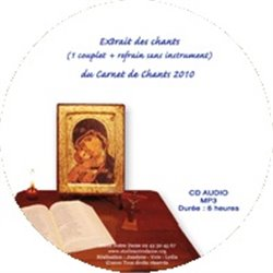 CD audio carnet de chants et prières MP3