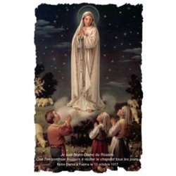 La carte-prière Notre-Dame du Rosaire