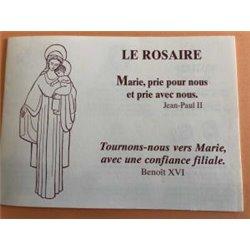 Dépliant de la prière du Rosaire