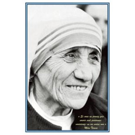 Carte prière Mère Teresa