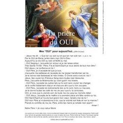Feuille de la prière du OUI