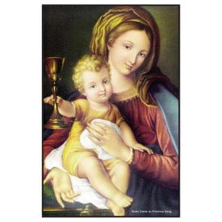 Carte prière à Notre Dame du Précieux Sang