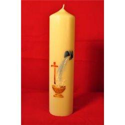 Cierge de Baptême peint à la main