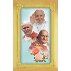 Carte-prière + médaille les 3 papes