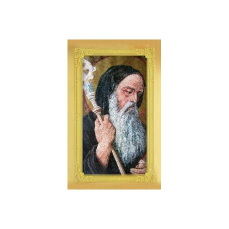 Carte-prière + médaille : Saint Benoît