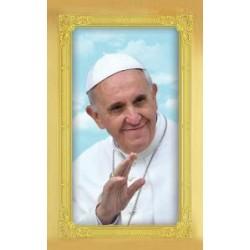 Carte-prière + médaille : Pape François