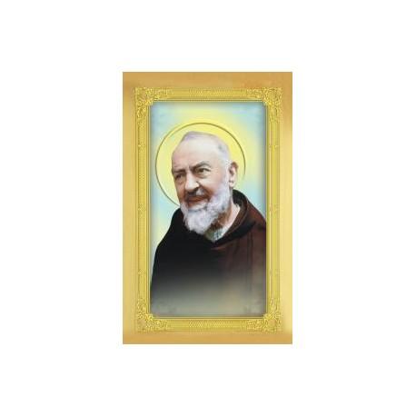 Carte-prière + médaille : Saint Padre Pio