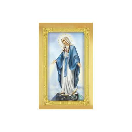 Carte-prière + médaille : Immaculée Conception